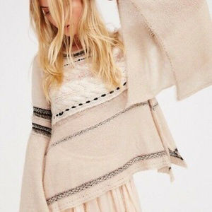 Free People Craft a time Bell-Sleeve sweater